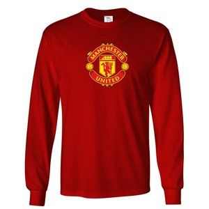 Youth Kids Manchester United Logo Long Sleeve